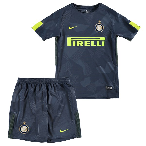 Magasin Foot Nike Third Ensemble Enfant Internazionale Milano 2017 2018 Bleu