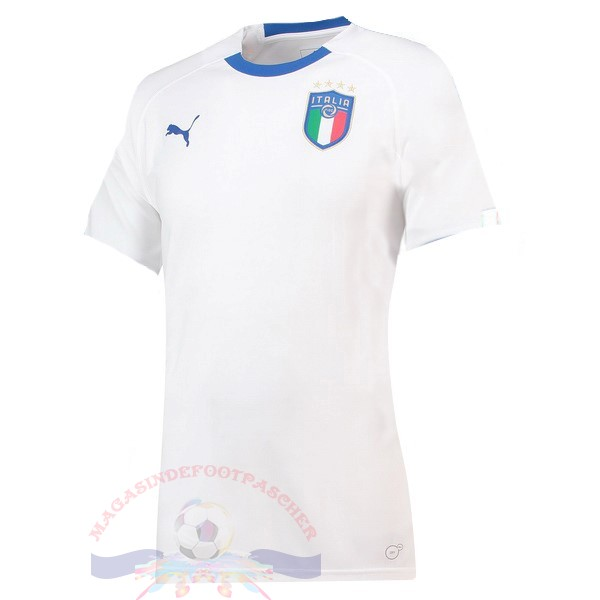 Magasin Foot Puma Exterieur Maillot Femme Italie 2018 Blanc