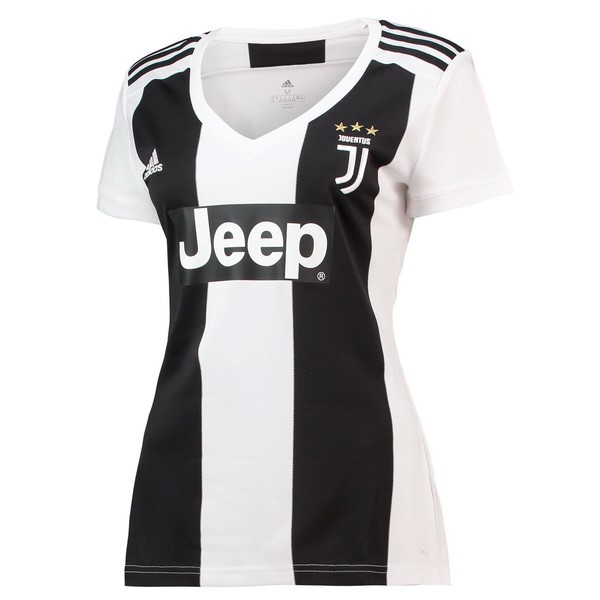 Magasin Foot adidas Domicile Maillots Femme Juventus 2018 2019 Noir Blanc
