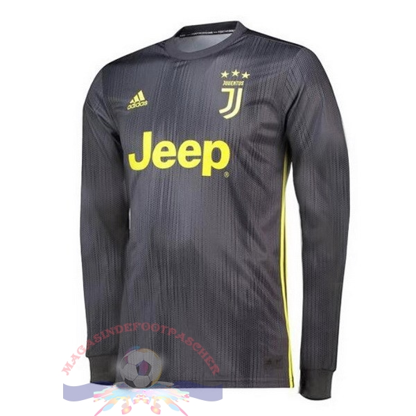 Magasin Foot adidas Third Manches Longues Juventus 18-19 Gris