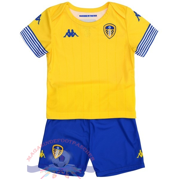 Magasin Foot Kappa Third Maillots Ensemble Enfant Leeds United 18-19 Jaune