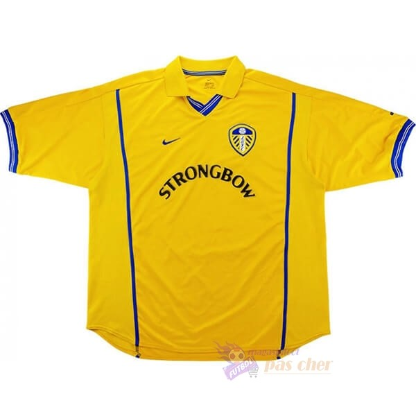 Magasin Foot Nike Domicile Maillot Leeds United Retro 2000 2002 Jaune
