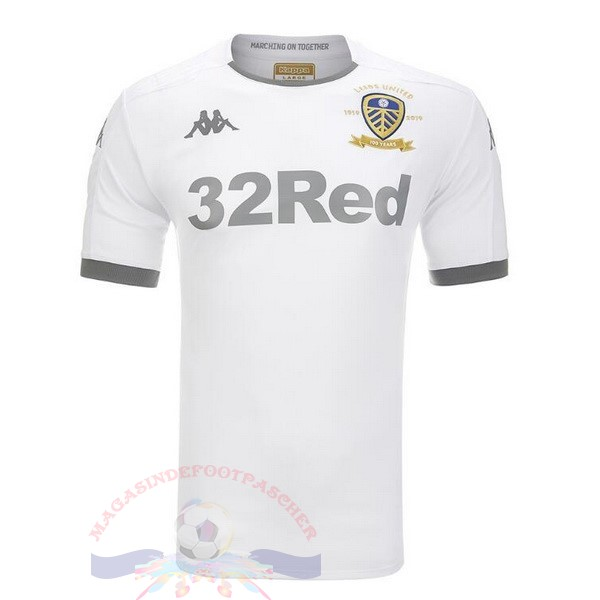 Magasin Foot Kappa Domicile Maillot Leeds United 2019 2020 Blanc