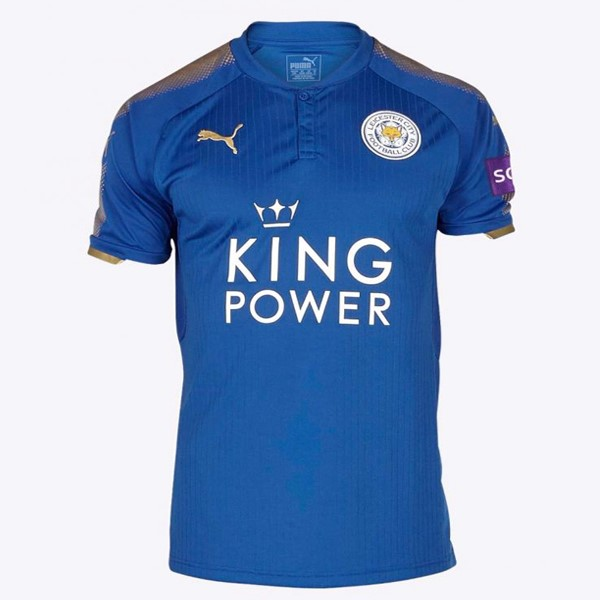 Magasin Foot PUMA Thailande Domicile Maillots Leicester City 2017 2018 Bleu