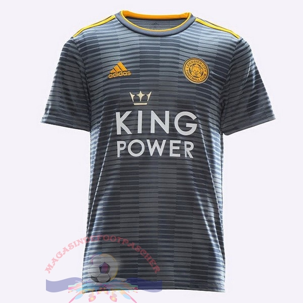 Magasin Foot adidas Thailande Exterieur Maillots Leicester City 2018-2019 Gris