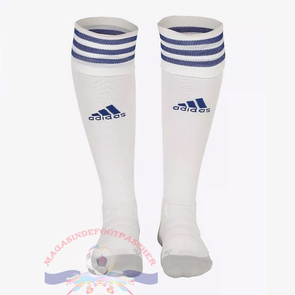 Magasin Foot adidas Third Chaussettes Leicester City 2018-2019 Blanc
