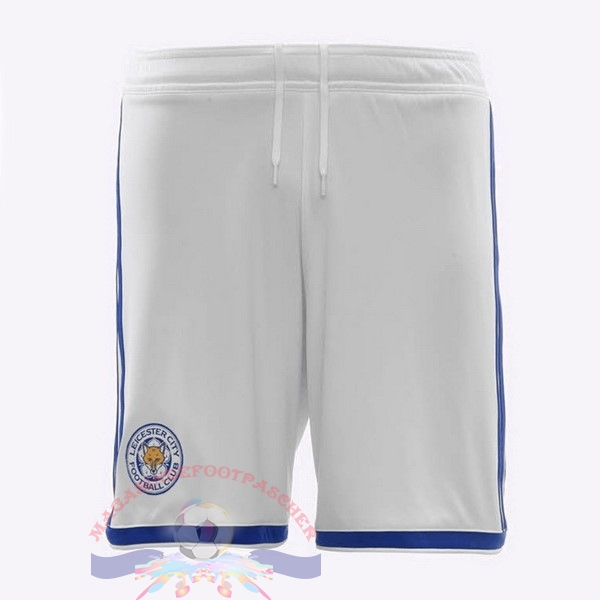 Magasin Foot adidas Third Shorts Leicester City 2018-2019 Blanc