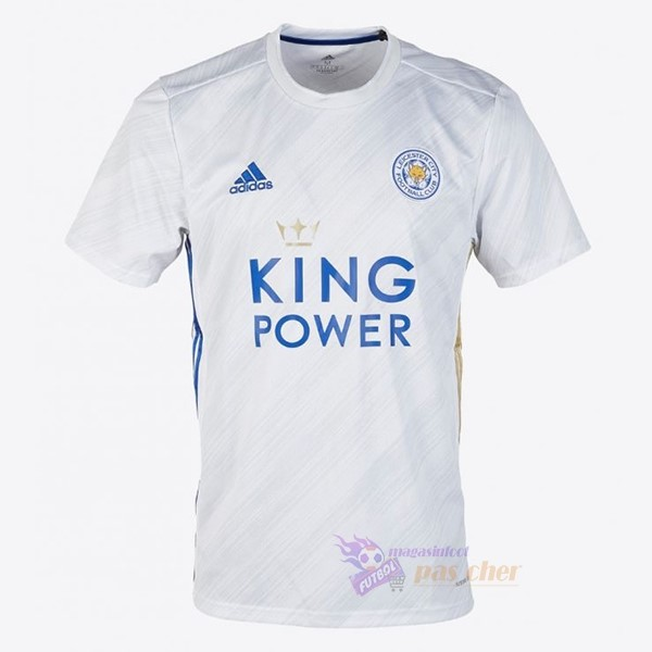 Magasin Foot adidas Exterieur Maillot Leicester City 2020 2021 Blanc
