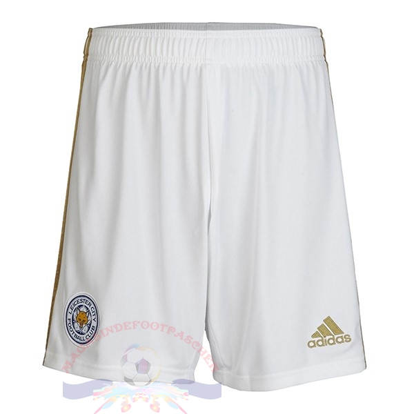 Magasin Foot adidas Domicile Pantalon Leicester City 2019 2020 Blanc