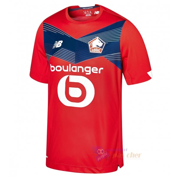 Magasin Foot New Balance Domicile Maillot Lille 2020 2021 Rouge