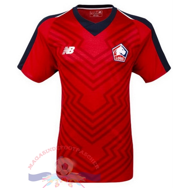 Magasin Foot New Balance Domicile Maillots LOSC 18-19 Rouge