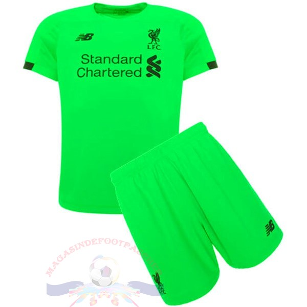 Magasin Foot New Balance Gardien Ensemble Enfant Liverpool 2019 2020 Vert