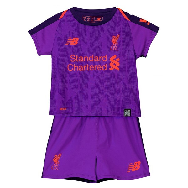 Magasin Foot New Balance Exterieur Ensemble Enfant Liverpool 2018 2019 Purpura