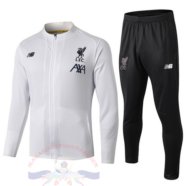 Magasin Foot New Balance Survêtements Enfant Liverpool 2019 2020 Blanc Noir