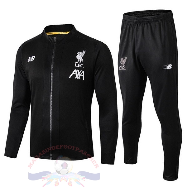 Magasin Foot New Balance Survêtements Enfant Liverpool 2019 2020 Noir Blanc Jaune