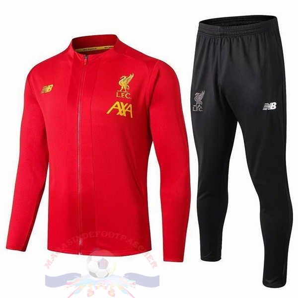 Magasin Foot New Balance Survêtements Enfant Liverpool 2019 2020 Noir Rouge