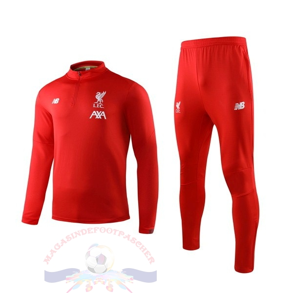 Magasin Foot New Balance Survêtements Enfant Liverpool 2019 2020 Rouge Blanc