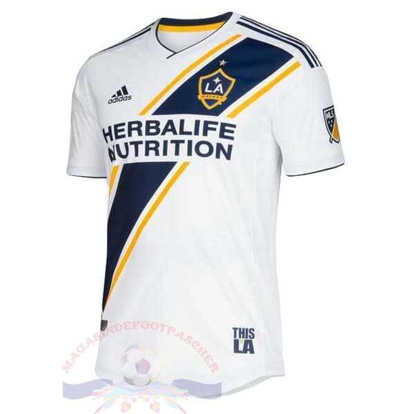 Magasin Foot adidas Domicile Maillot Los Angeles Galaxy 2019 2020 Blanc