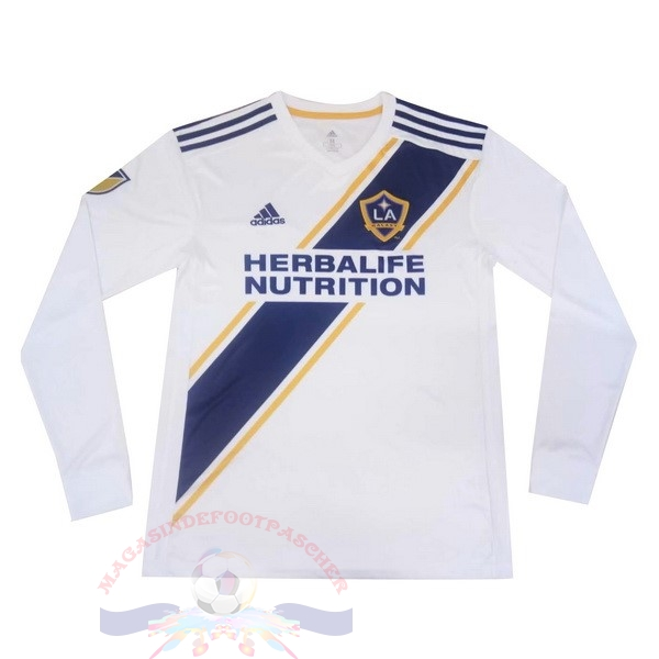 Magasin Foot adidas Domicile Manches Longues Los Angeles Galaxy 2019 2020 Blanc
