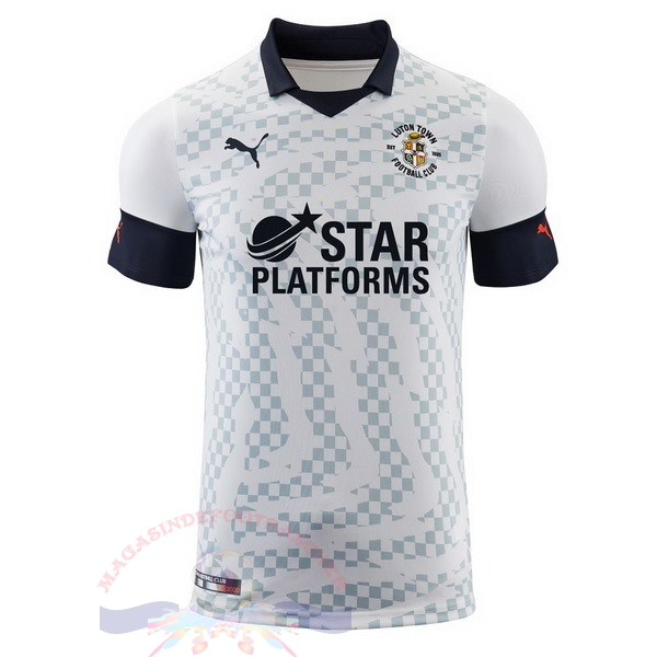 Magasin Foot PUMA Exterieur Maillot Luton Town 2019 2020 Blanc