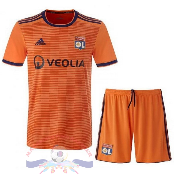 Magasin Foot adidas Third Ensemble Enfant Lyonnais 2018-2019 Orange