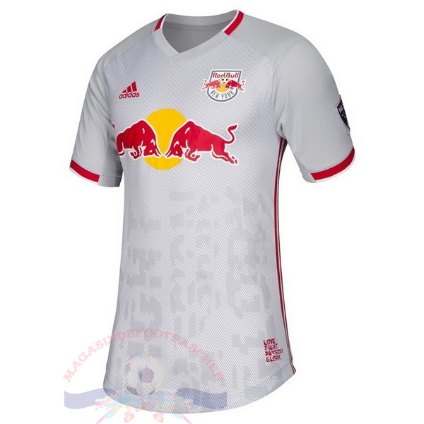 Magasin Foot Adidas DomiChili Maillot Red Bulls 2019 2020 Blanc