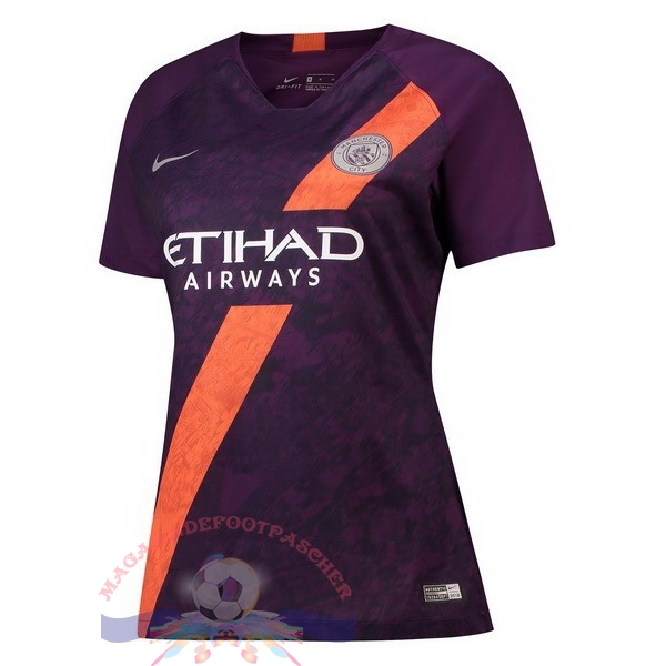 Magasin Foot Nike Third Maillots Femme Manchester City 2018-2019 Purpura
