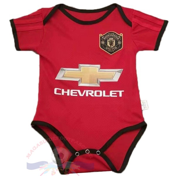 Magasin Foot Adidas Domicile Onesies Enfant Manchester United 2019 2020 Rouge