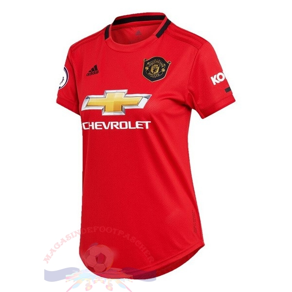 Magasin Foot adidas Domicile Maillot Femme Manchester United 2019 2020 Rouge