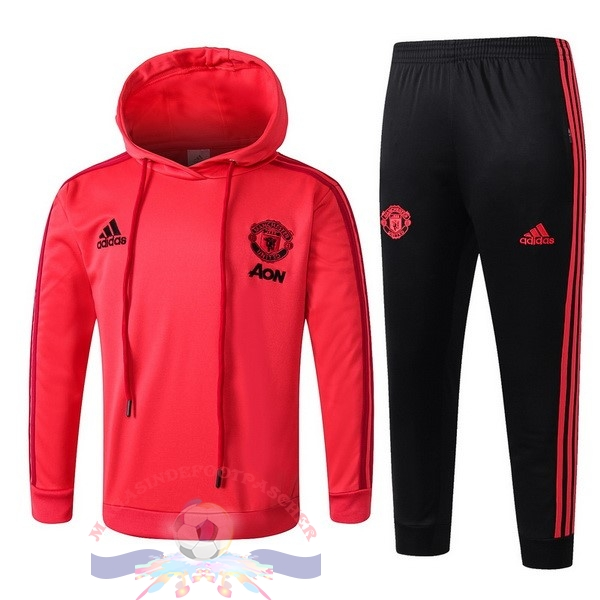 Magasin Foot adidas Survêtements Enfant Manchester United 18-19 Rouge