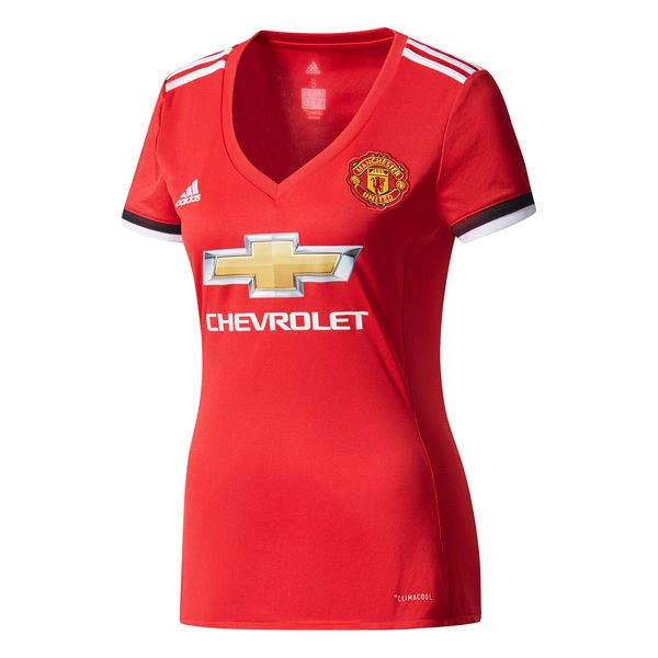 Magasin Foot adidas Domicile Maillots Femme Manchester United 2017 2018 Rouge