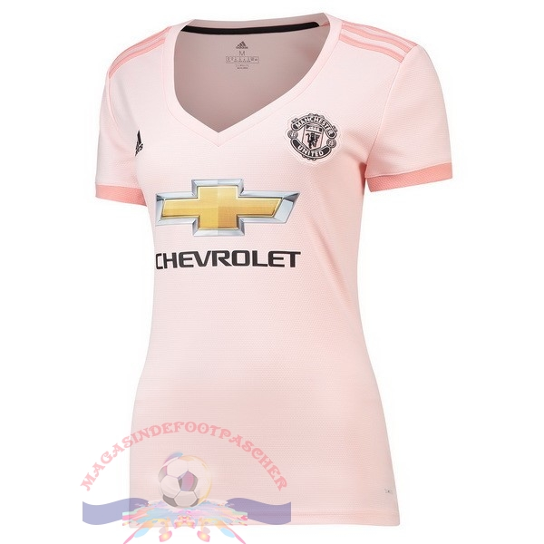 Magasin Foot adidas Exterieur Maillots Femme Manchester United 2018-2019 Rose