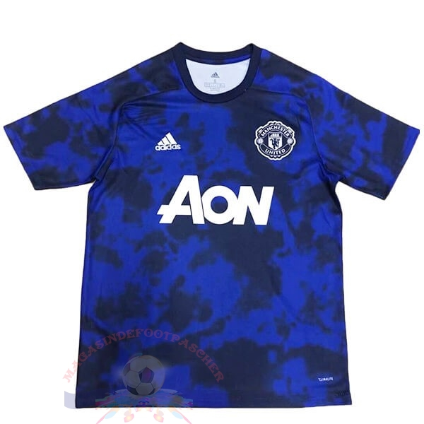Magasin Foot adidas Entrainement Manchester United 2019 2020 Bleu Marine