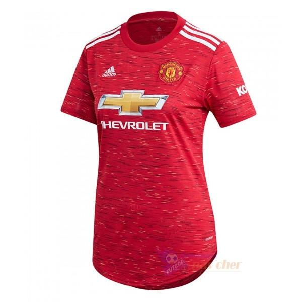 Magasin Foot adidas Domicile Maillot Femme Manchester United 2020 2021 Rouge