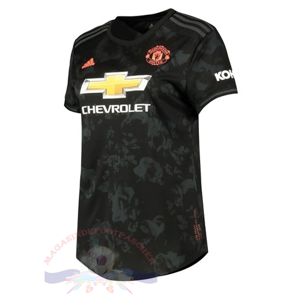 Magasin Foot adidas Third Maillot Femme Manchester United 2019 2020 Noir