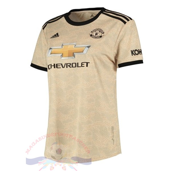 Magasin Foot adidas Exterieur Maillot Femme Manchester United 2019 2020 Marron