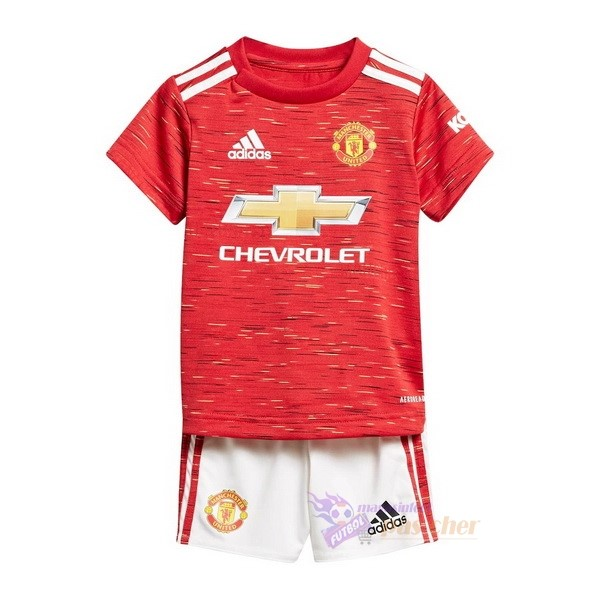 Magasin Foot adidas Domicile Conjunto De Enfant Manchester United 2020 2021 Rouge