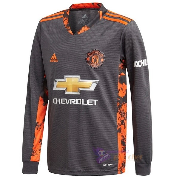 Magasin Foot adidas Domicile Manches Longues Gardien Manchester United 2020 2021 Gris