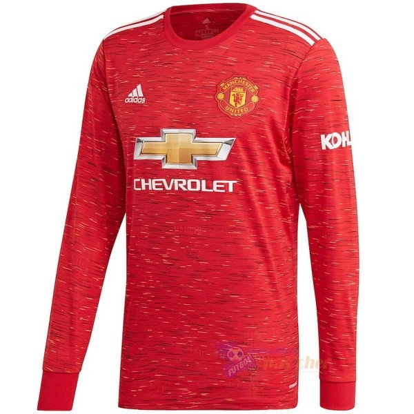 Magasin Foot adidas Domicile Manches Longues Manchester United 2020 2021 Rouge