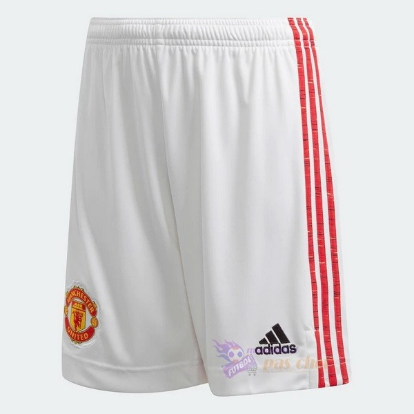 Magasin Foot adidas Domicile Pantalon Manchester United 2020 2021 Blanc