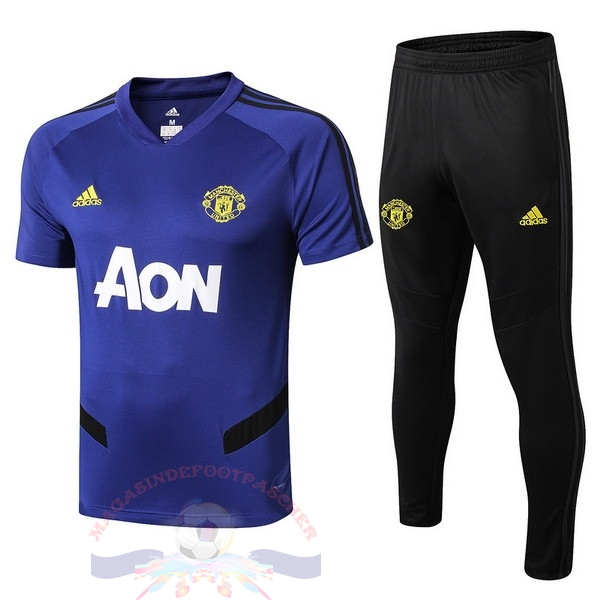 Magasin Foot adidas Entrainement Ensemble Manchester United 2019 2020 Bleu
