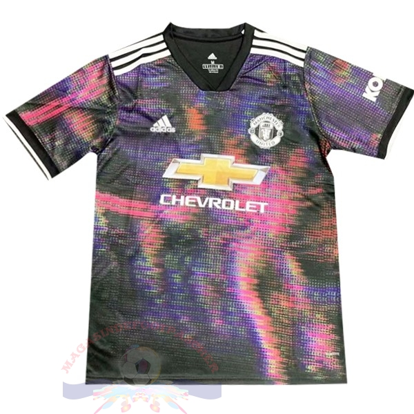 Magasin Foot adidas Entrainement Manchester United 2019 2020 Purpura Blanc