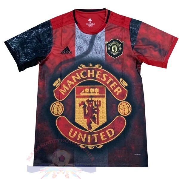 Magasin Foot adidas Entrainement Manchester United 2019 2020 Rouge Noir