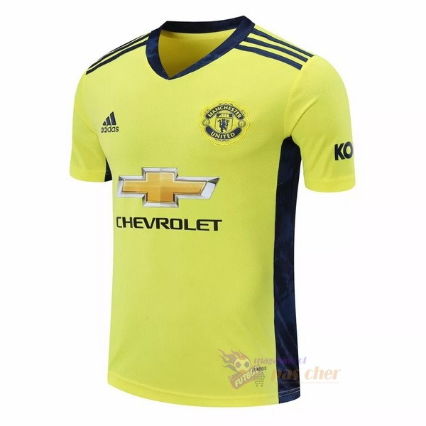 Magasin Foot adidas Exterieur Maillot Gardien Manchester United 2020 2021 Jaune