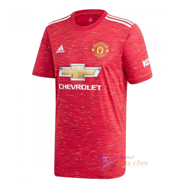 Magasin Foot adidas Thailande Domicile Maillot Manchester United 2020 2021 Rouge