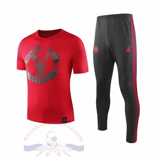 Magasin Foot Adidas Entrainement Ensemble Manchester United 2019 2020 Rouge