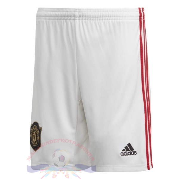 Magasin Foot adidas Domicile Pantalon Manchester United 2019 2020 Blanc
