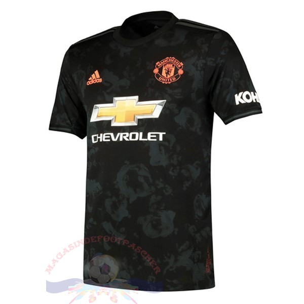 Magasin Foot adidas Third Maillot Manchester United 2019 2020 Noir