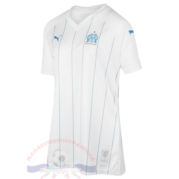 Magasin Foot PUMA Domicile Maillot Femme Marseille 2019 2020 Blanc