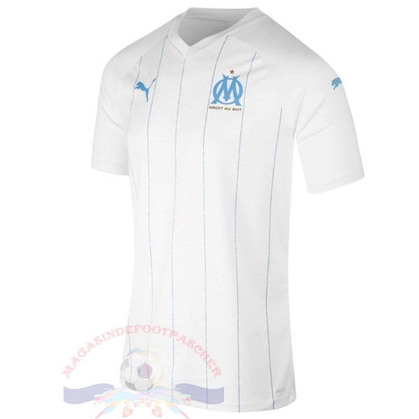 Magasin Foot PUMA Domicile Maillot Marseille 2019 2020 Blanc